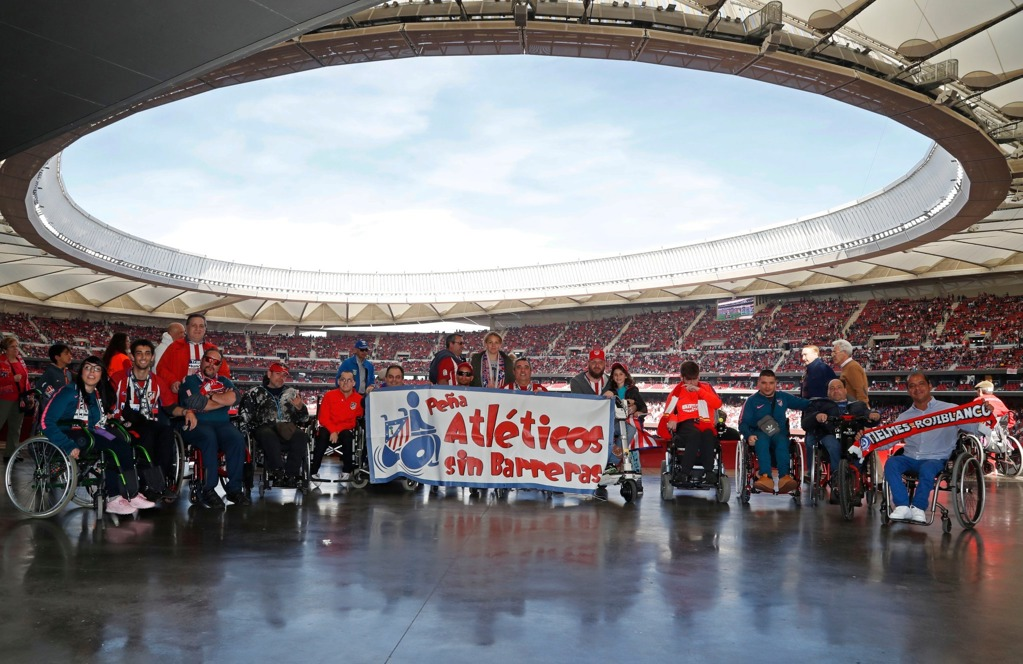 Disabled Atletico Madrid fans