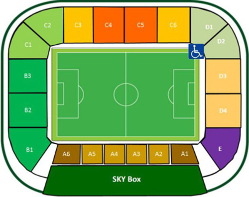 Groupama Arena map