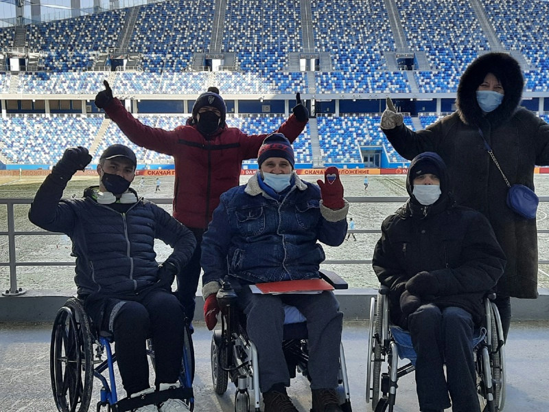 Disabled fans at the Nizhny Novgorod game