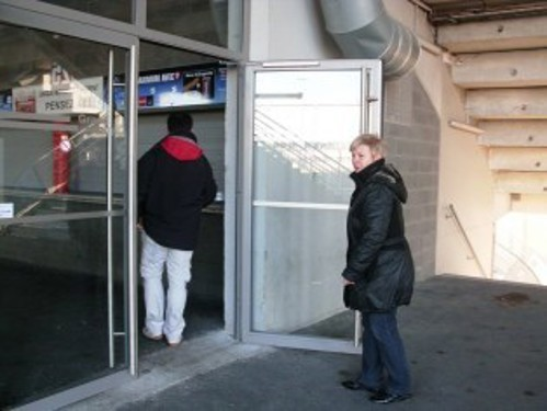 Accessible entrance in the stadium