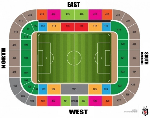 Besiktas Park stadium map