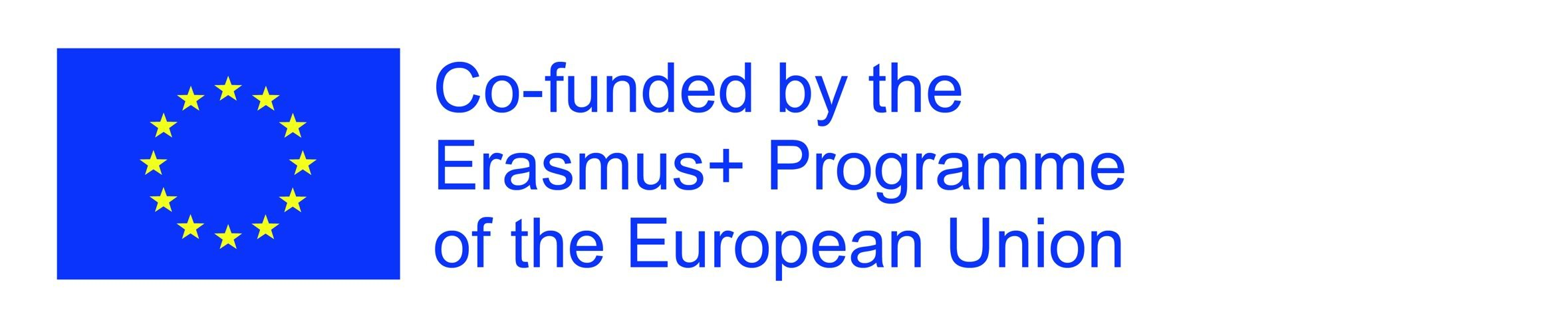 EU flag along with the text: Co-funded by Erasmus+