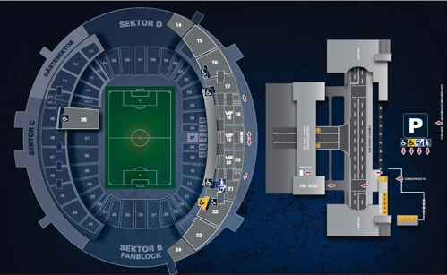 Red Bull Arena map