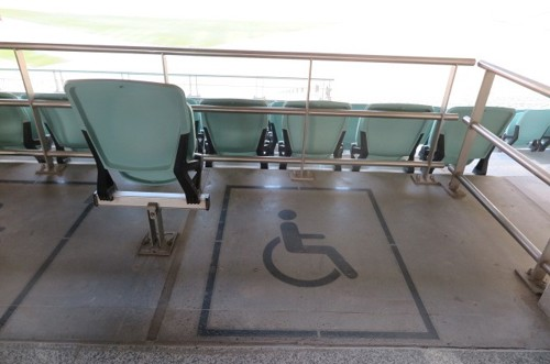 Wheelchair user spaces on Level 1