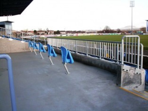 Accessible seating area for away fans