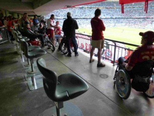 Wheelchair user area