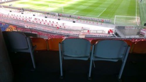 Sightlines from accessible seating area
