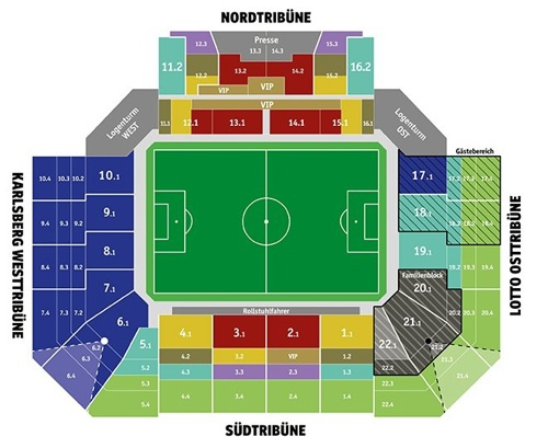 Fritz Walter Stadion map