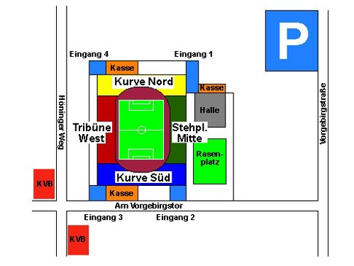 Sudstadion map