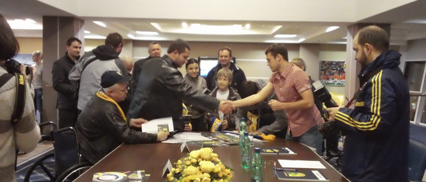 Metalist Kharkiv meeting with disabled supporters