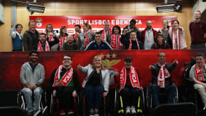 Football for All Leadership Programme participants at Benfica