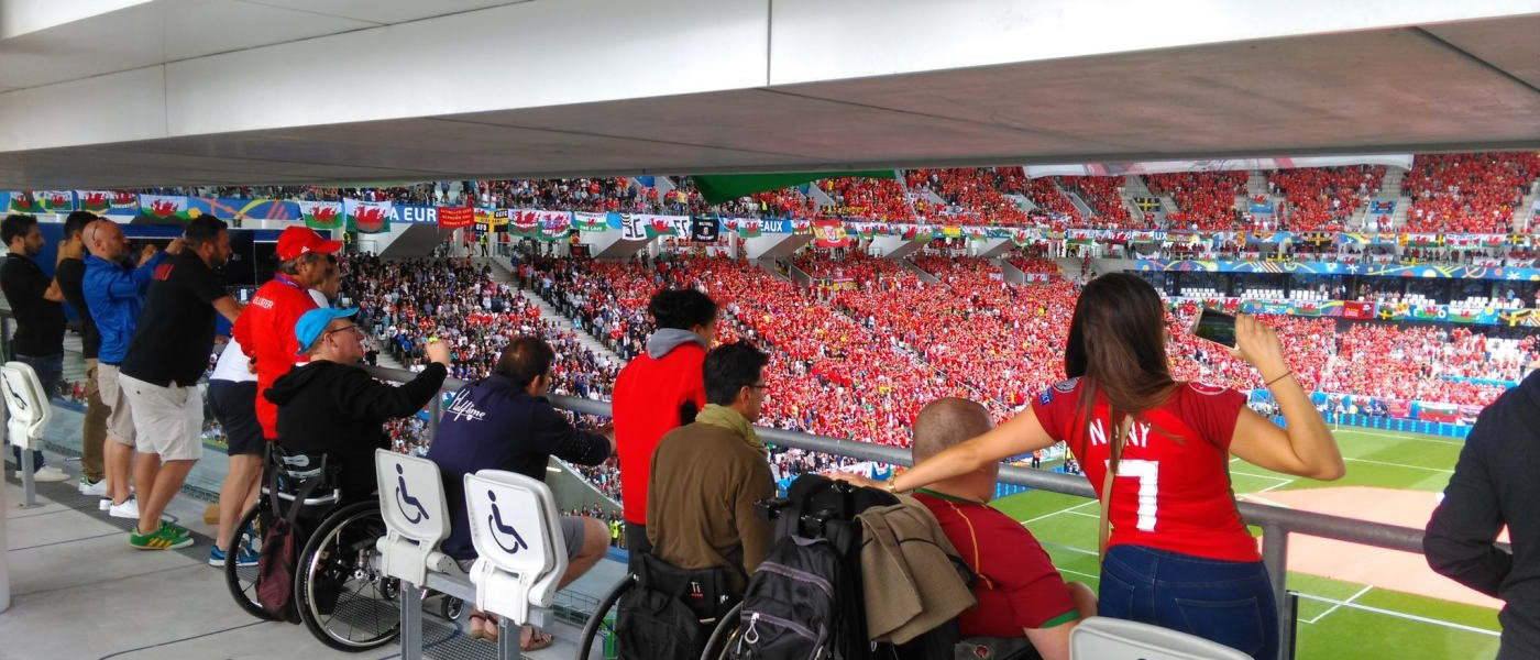 Accessible viewing area at the 2016 Euros