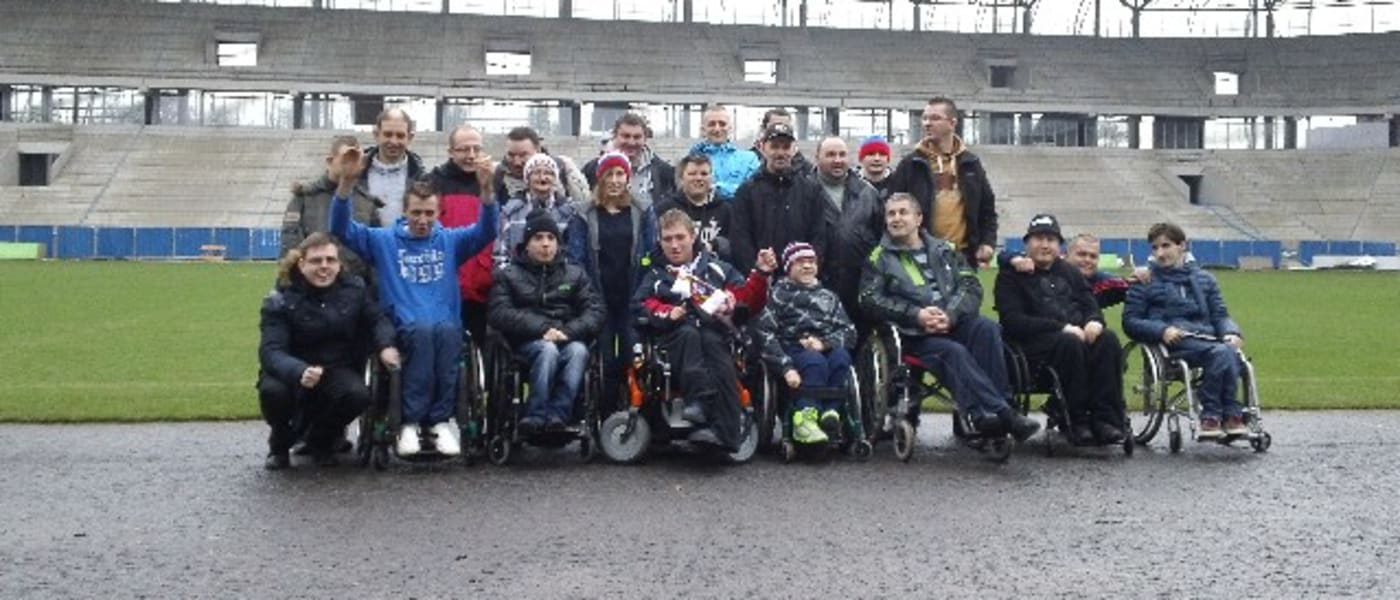 Disabled supporters group at Gornik Zabrze