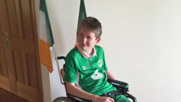 Disabled fan collects supporters' award from Paris mayor on behalf of Republic of Ireland fans