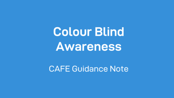 Colour blind awareness CAFE guidance note
