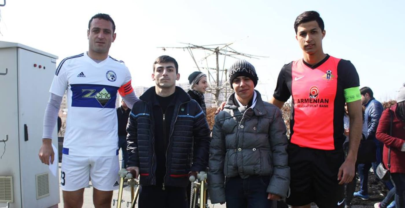 Armenian Premier League matches preceded by CAFE Week of Action ceremonies