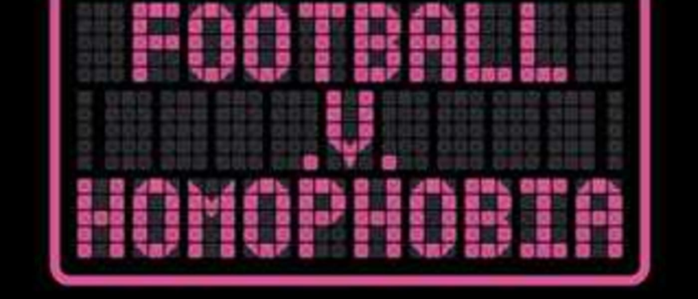 Football v Homophobia sign