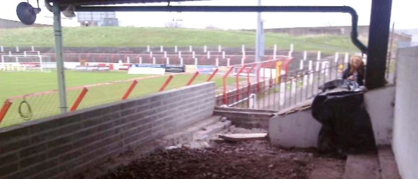 Glentoran FC viewing area