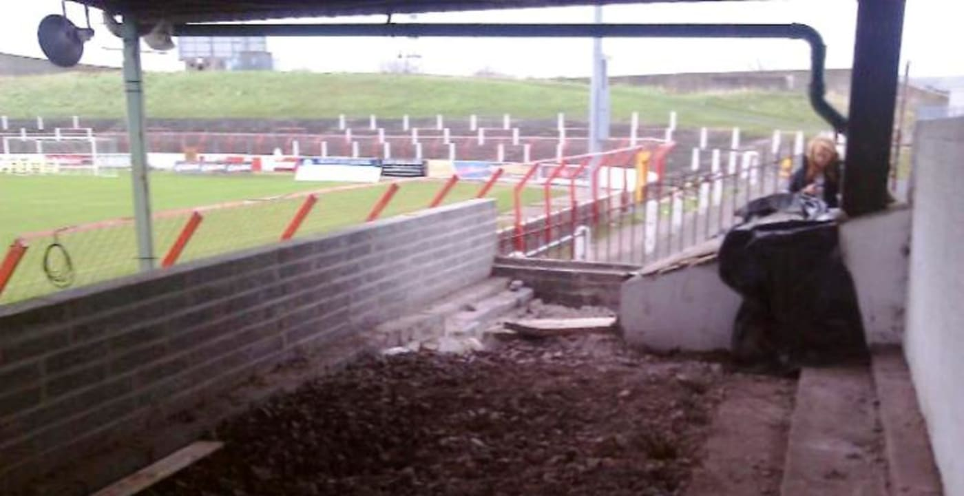 Glentoran disabled fans building new enclosure