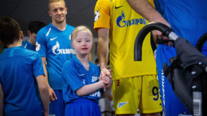 Disabled Russian fan at Zenit St Petersburg