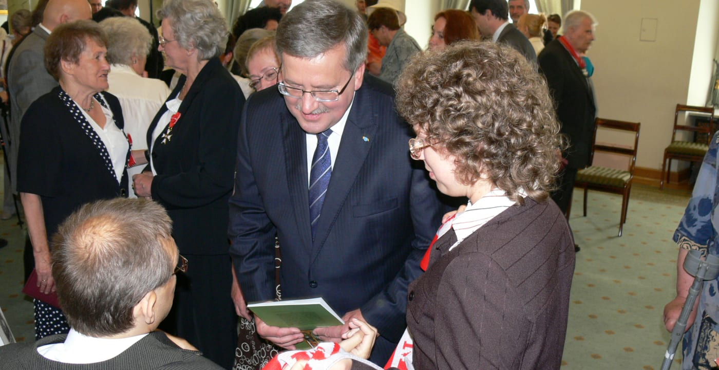 President Komorowski with civil society activists