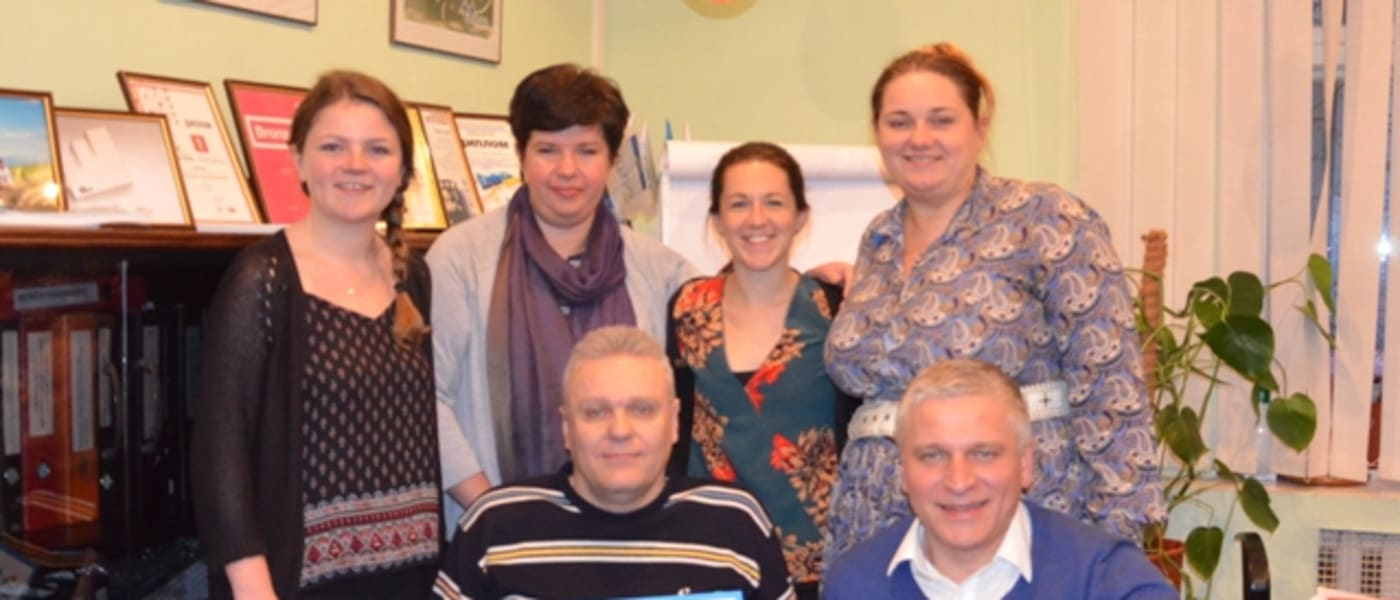 The CAFE team with stakeholders in Ukraine
