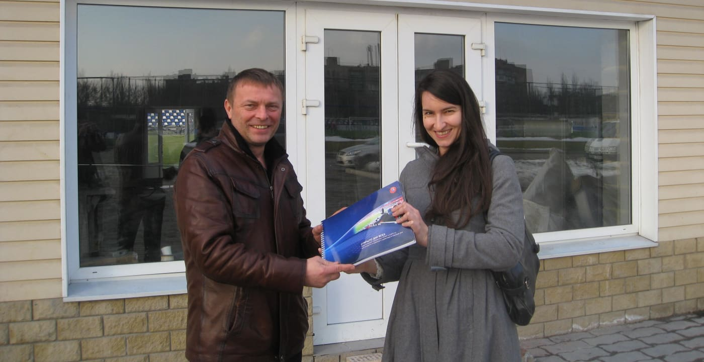 CAFE working in cooperation with FC Olympic Donetsk