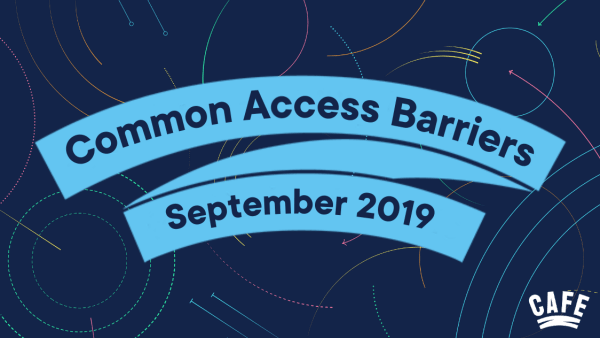 Common Access Barriers