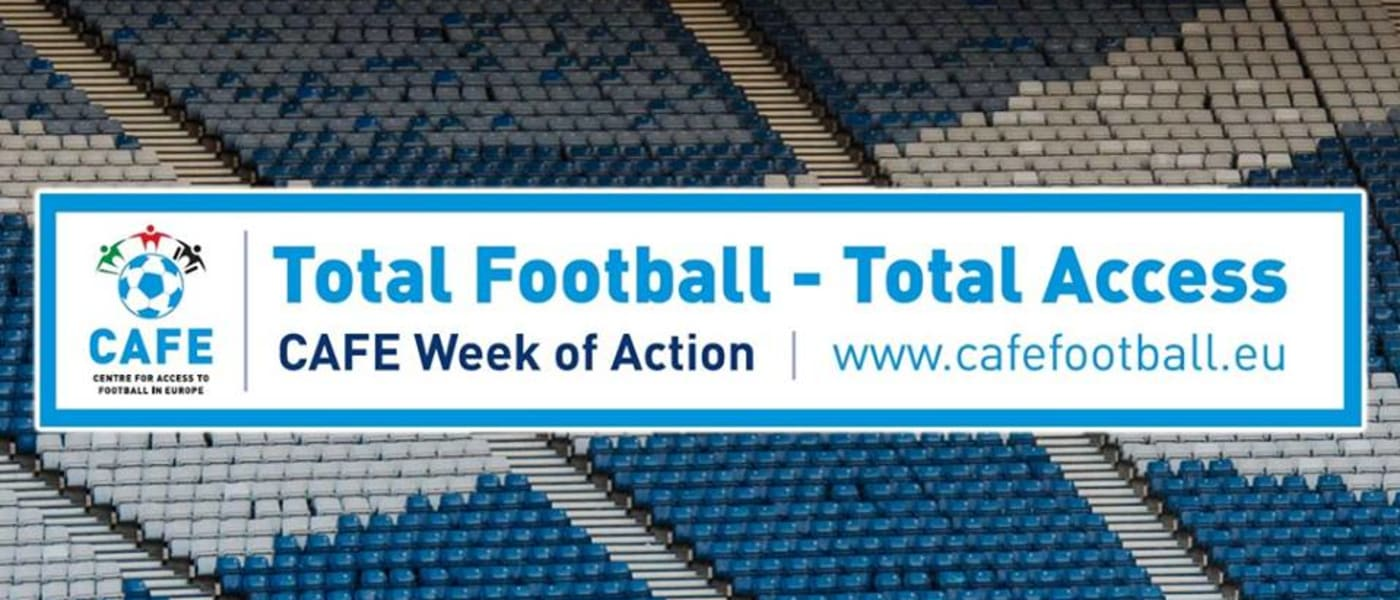 Week of Action banner across photo of Scottish stadium