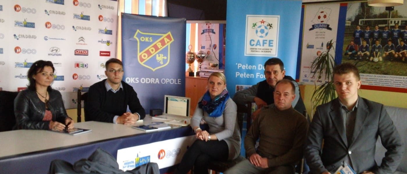 The CAFE team meeting with representatives of Odra Opole FC