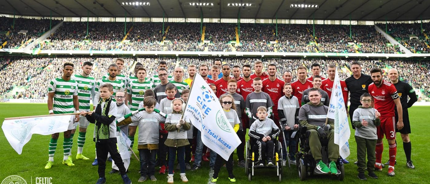 Week of Action ceremony at Celtic