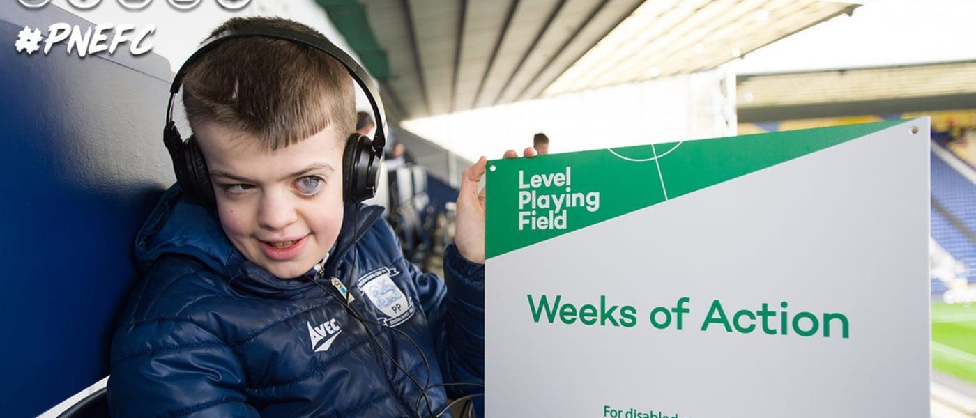 Level Playing Field Weeks of Action celebration at Preston North End