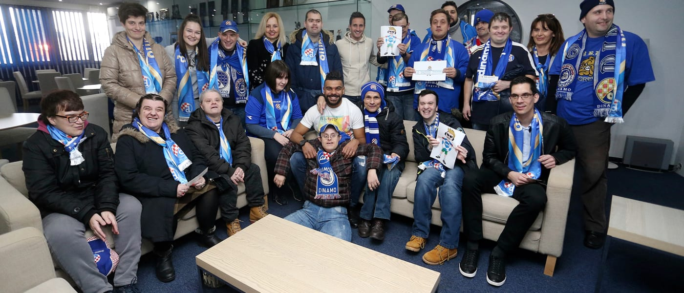 Disabled fans and thier companions at Dinamo Zagreb