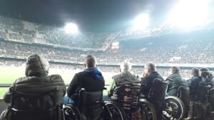 Disabled fans at Valencia CF