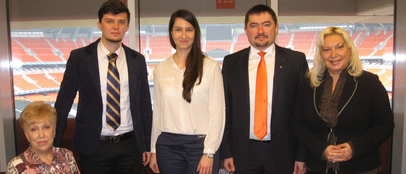 Members of the CAFE team meeting with stakeholders of the Donbass Arena