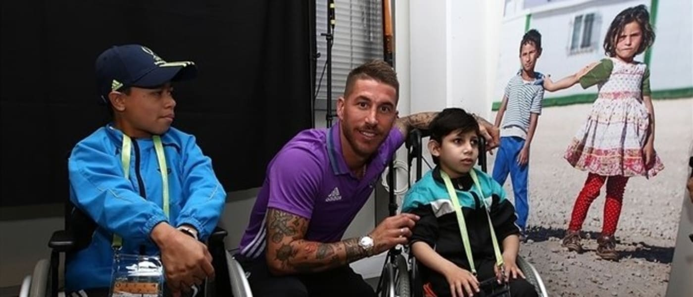 Sergio Ramos with disabled fans