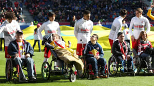 Disabled player escorts at RB Salzburg