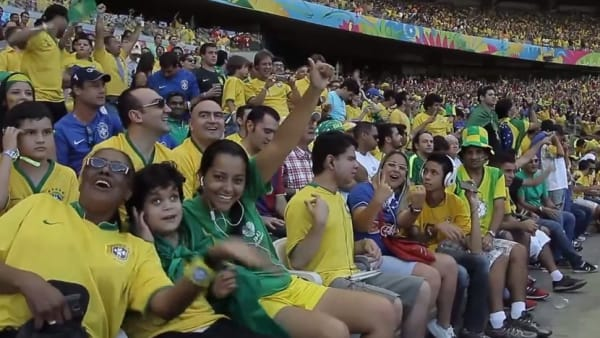 Brazil fans listening to ADC