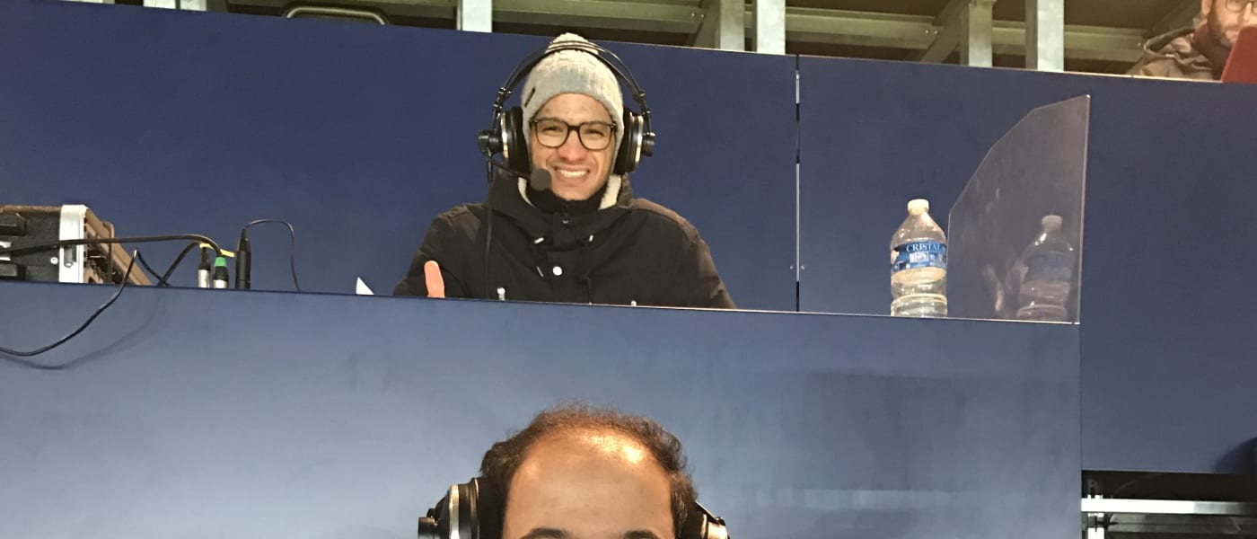 ADC commentators at Parc des Princes