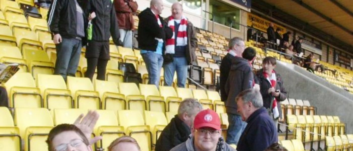 Hamilton Academical FC supporters at Almondvale Stadium