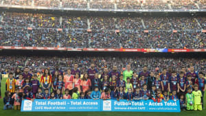 CAFE Week of Action celebrations at FC Barcelona