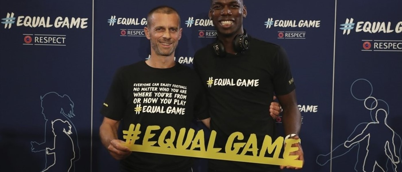 UEFA promoting the #EqualGame Campaign