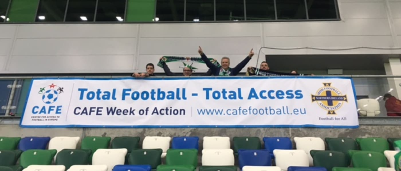 CAFE Week of Action banner at Windsor Park