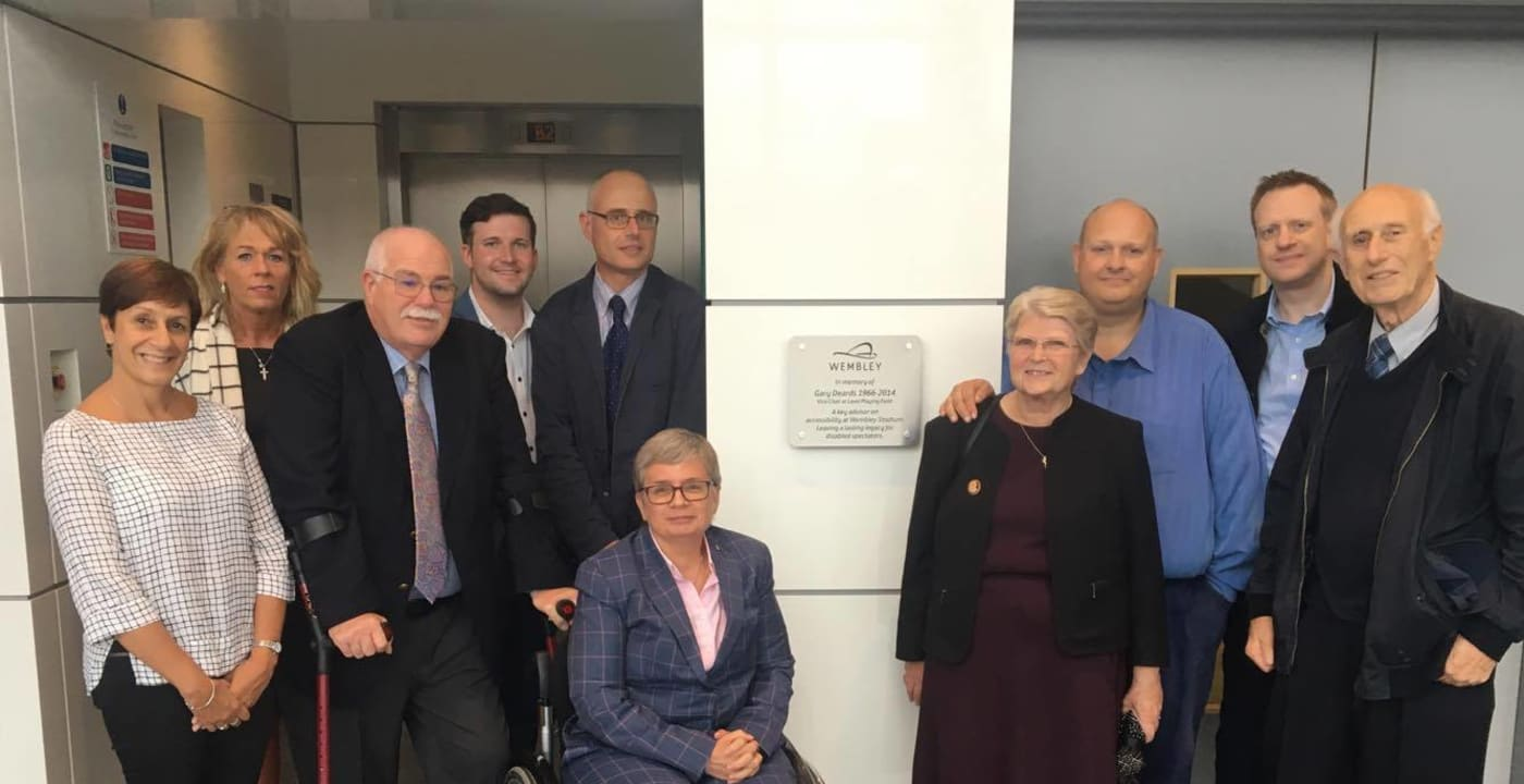 Wembley Stadium unveils plaque in honour of Gary Deards