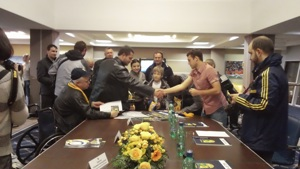 Metalist Kharkiv meets with disabled fans