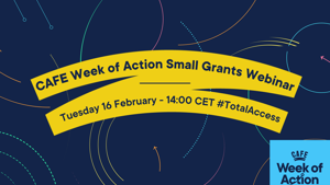 Join the CAFE Week of Action small grants programme webinar