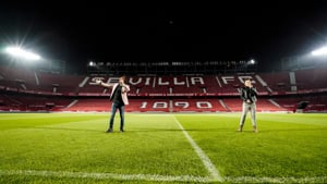 Sevilla FC celebrate the CAFE Week of Action 2021