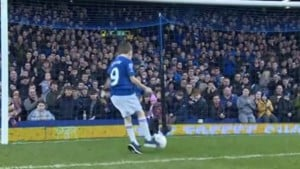 Young disabled fan wins Everton goal of the month