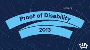 Proof of disability research project report