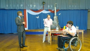 CAFE and disabled supporters award Hononary President of FC Sevastopol